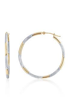 Belk & Co. Hoop Earrings in 14K Two-Tone Gold