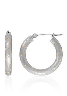 Belk & Co. Star Hoop Earrings in 14K Yellow Gold