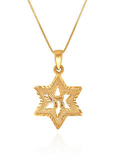 Belk & Co. 14k Yellow Gold Star of David Pendant
