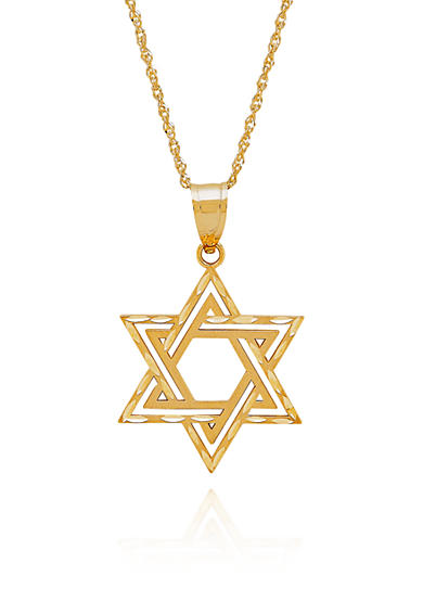 Belk & Co. 14k Yellow Star of David Pendant Necklace