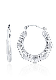 Belk & Co. Hoop Earrings in 14k White Gold