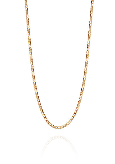 Belk & Co. Bevelled Chain Necklace in 14K Yellow Gold