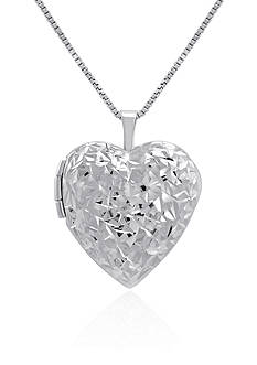 Belk & Co. Heart Locket Necklace in Sterling Silver