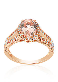 Belk & Co. Morganite Ring in 14k Rose Gold