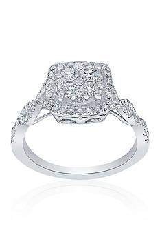 Belk & Co. 3/4 ct. t.w. Diamond Square Cluster Ring in 14k White Gold