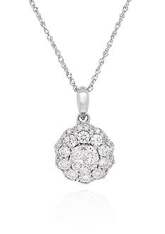 Belk & Co. 1.0 ct. t.w. Diamond Pendant in 14K White Gold