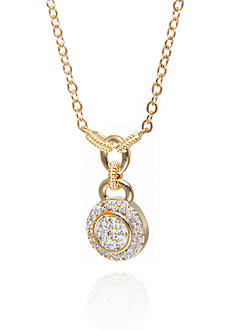 Belk & Co. Diamond Round Drop Pendant in 14K Yellow Gold