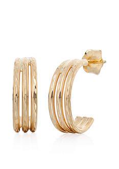 Belk & Co. Hoop Earrings in 14k Yellow Gold
