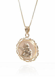Belk & Co. Raphael Angel Pendant in 10k Yellow Gold