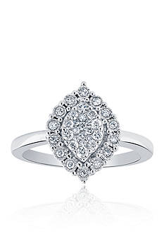 Belk & Co. 0.34 ct. t.w. Marquise Diamond Ring in 10K White Gold