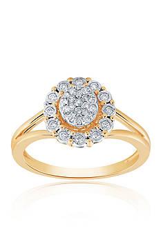 Belk & Co. 0.27 ct. t.w. Diamond Ring in 10K Yellow Gold