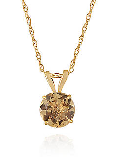 Belk & Co. Citrine Pendant in 10K Yellow Gold