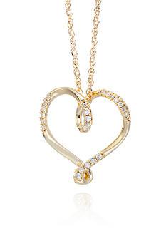 Belk & Co. 0.10 ct. t.w. Diamond Heart Pendant in 10k Yellow Gold