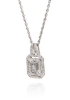Belk & Co. 0.33 ct. t.w. Diamond Square Cluster Pendant in 10k White Gold