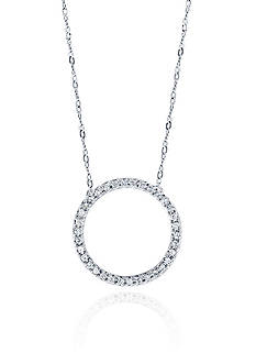 Belk & Co. 10 ct. t.w. Diamond Pendant Necklace in 10K White Gold