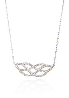 Belk & Co. 0.33 ct. t.w. Diamond Weave Necklace in 10K White Gold