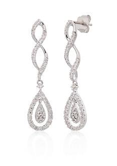 Belk & Co. 0.27 Diamond Pear Drop Earrngs in 10K White Gold
