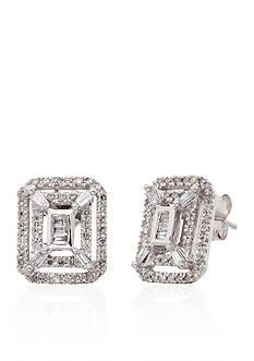 Belk & Co. 0.40 ct. t.w. Diamond Square Cluster Earrings in 10K White Gold