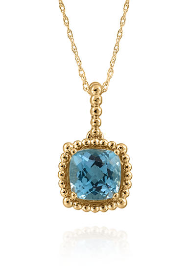 Belk & Co. Topaz Pendant in 10K Yellow Gold