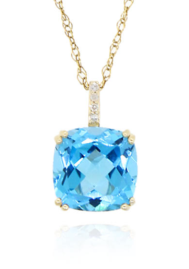 Belk & Co. Topaz Pendant Necklace in 10K Yellow Gold