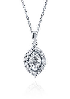 Belk & Co. 0.34 ct. t.w. Marquise Pendant Necklace in 10k White Gold