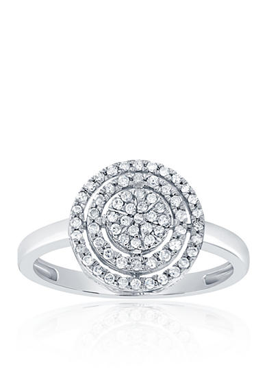 Belk & Co. 0.26 ct. t.w. Circle Diamond Cluster Ring in 10K White Gold