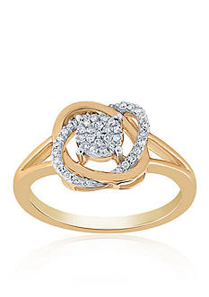 Belk & Co. 0.16 ct. t.w. Diamond Knot Ring in 10K Yellow Gold