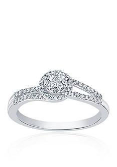Belk & Co. 0.26 ct. t.w. Diamond Round Cluster Ring in 10K White Gold