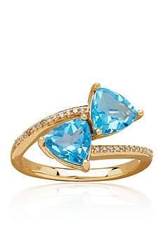 Belk & Co. Topaz Ring in 10k Yellow Gold