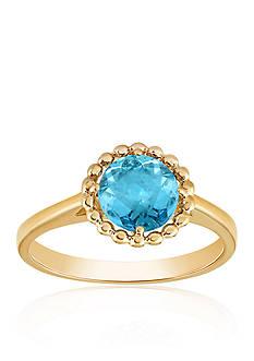 Belk & Co. Blue Topaz Beaded Ring in 10k Yellow Gold