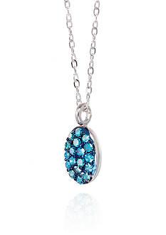 Belk & Co. Blue Cluster Diamond Pendant in 10K White Gold