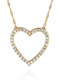 Belk & Co. 0.14 ct. t.w. Diamond Heart Pendant in 10K Yellow Gold