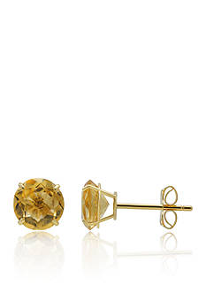 Belk & Co. Citrine Stud Earrings in 10K Yellow Gold