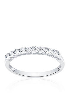 Belk & Co. 1/10 ct. t.w. Diamond Band in 10k White Gold