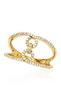 Belk & Co. 0.20 ct. t.w. Diamond Open 8 Ring in 10K Yellow Gold