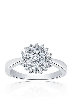 Belk & Co. 0.50 ct. t.w. Diamond Cluster Ring in 10K White Gold