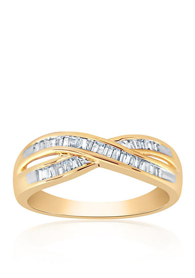 Belk & Co. 0.32 ct. t.w. Diamond Ring in 10K Yellow Gold