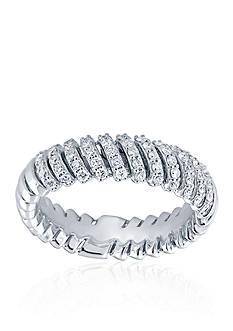 Belk & Co. 0.495 ct. t.w. Diamond Anniversary Band Ring in 10k White Gold
