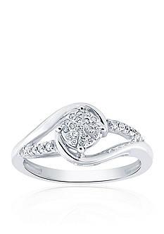 Belk & Co. 1/10 ct. t.w. Diamond Bypass Ring in Sterling Silver