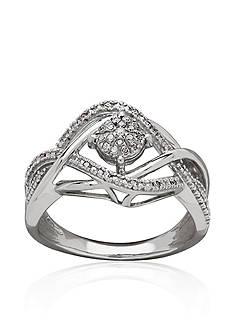 Belk & Co. 0.10 ct. t.w. Diamond Ring in Sterling Silver-Box