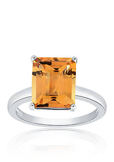 Belk & Co. Citrine Ring in Sterling Silver