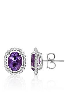 Belk & Co. Purple Amethyst Earrings in Sterling Silver