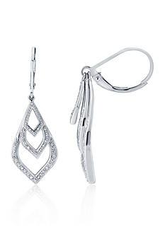 Belk & Co. 0.11 ct. t.w. Diamond Drop Earrings in Sterling Silver