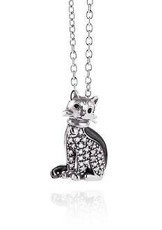 Belk & Co. 0.10 ct. t.w. Diamond Cat Pendant in Sterling Silver