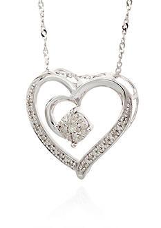 Belk & Co. 0.10 ct. t.w. Diamond Heart Pendant in Sterling Silver