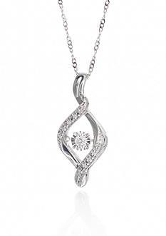 Belk & Co. 0.10 ct. t.w. Diamond Pendant in Sterling Silver