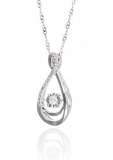 Belk & Co. 0.10 ct. t.w. Diamond Pendant in Sterling Silver