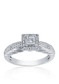 Belk & Co. 0.10 ct. t.w. Diamond Square Ring in Sterling Silver