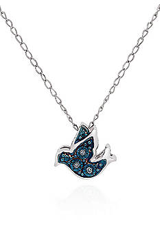 Belk & Co. 0.0099 ct. t.w. Diamond Bird Pendant in Sterling Silver