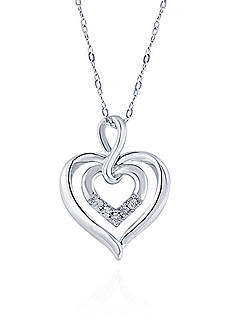 Belk & Co. 0.17 ct. t.w. Diamond Heart Pendant in Sterling Silver